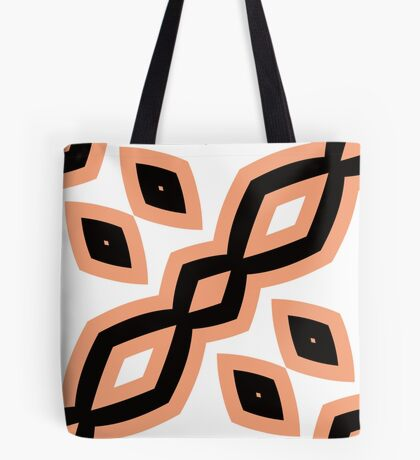Peach and Black by Julie Everhart Tote Bag
