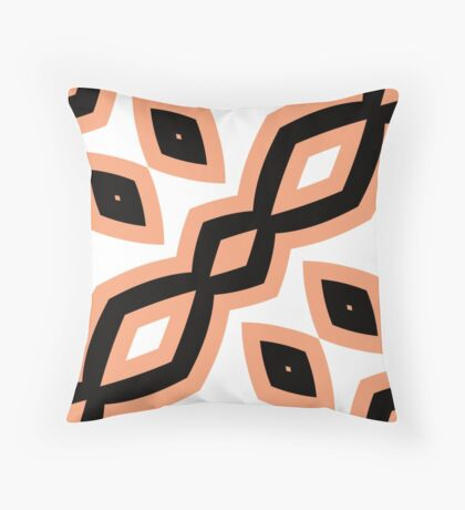 Peach and Black by Julie Everhart Throw Pillow