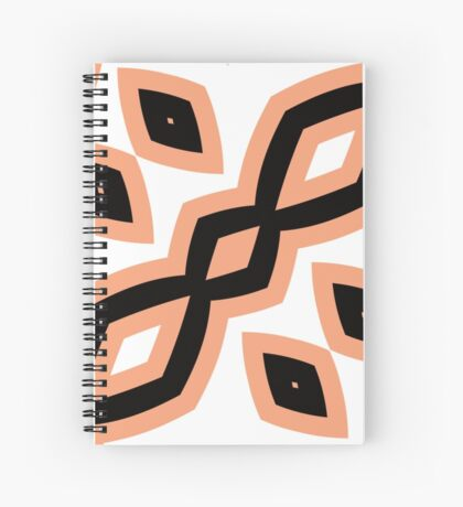 Peach and Black by Julie Everhart Spiral Notebook