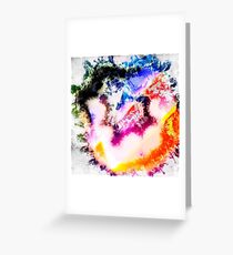 Digitally generated Multicoloured abstract pattern  Greeting Card
