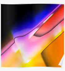 Digitally generated Multicolored abstract pattern  Poster