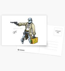 Daddy was a bank robber Postcards