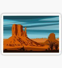 Monument Valley National Park Illustration Sticker