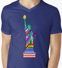 Freiheit für alle T-Shirt mit V-Ausschnitt für Männer