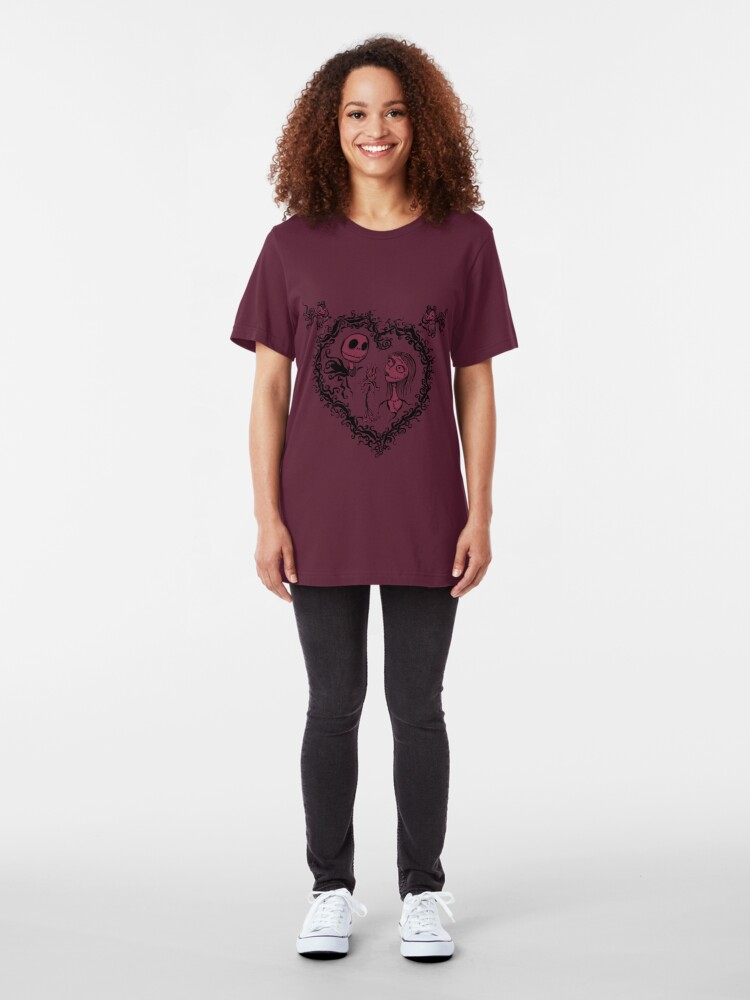 Alternate view of Nightmare Before Valentine's Day Slim Fit T-Shirt