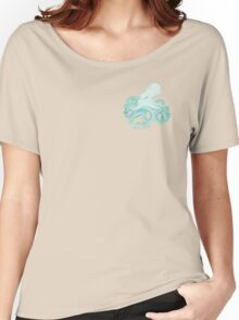 Colourful Blue Octopus Pattern Women's Relaxed Fit T-Shirt