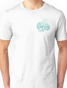 Colourful Blue Octopus Pattern Unisex T-Shirt