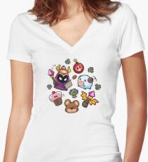 LoL pattern Women's Fitted V-Neck T-Shirt