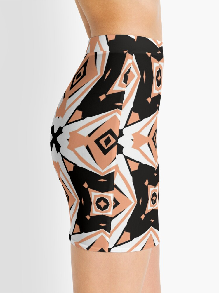 Alternate view of Peach and Black 2 by Julie Everhart Mini Skirt