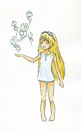 Jellyfish Girl by freeminds