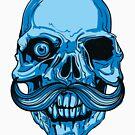 Hipster Skeleton Mustach by BeBad