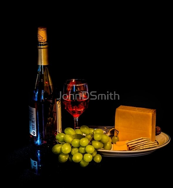 Wine, Cheese, Cracker`s & Grapes by JohnDSmith