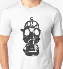 Classic Gas Mask Stencil Unisex T-Shirt