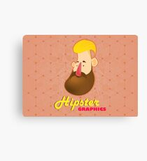 Hipster Graphics Canvas Print