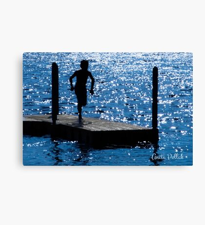 Sparkles and Silhouettes Canvas Print