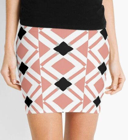 Pattern in Mauve and Black by Julie Everhart Mini Skirt