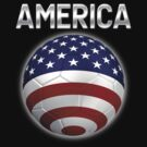 America - American Flag - Football or Soccer Ball & Text 2 by graphix