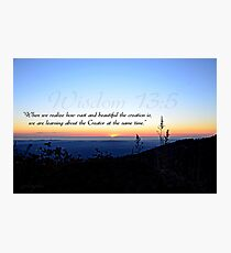 """""""Learning about the Creator"""" Photographic Print"""