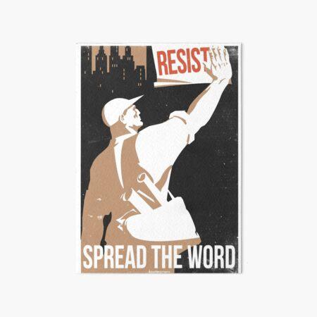 Spread The Word Art Board Print