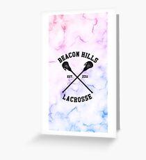 Beacon Hills Lacrosse - Teen Wolf Greeting Card