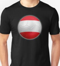 Austria - Austrian Flag - Football or Soccer 2 Unisex T-Shirt