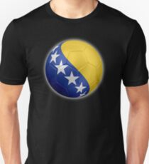 Bosnia and Herzegovina - Bosnian Flag - Football or Soccer 2 T-Shirt