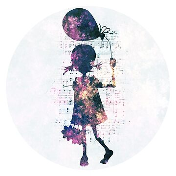 Musical Balloon Girl Paisley Silhouette by superminx