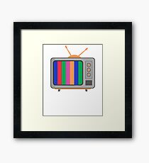 Retro Old School Television Framed Print