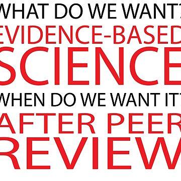 Evidenzbasierte Wissenschaft, März für die Wissenschaft von Upbeat