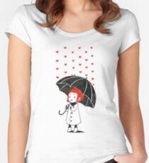 Love rain Women's Fitted Scoop T-Shirt