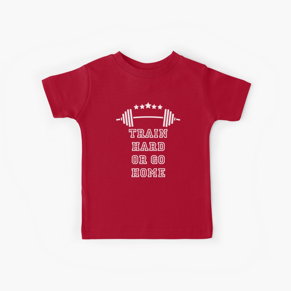 Gewichte Train Hard Kinder T-Shirt