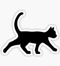 Cat Silhouette (Black) Sticker