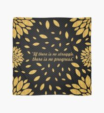 "If there is no struggle... ""Frederick Douglass"" Inspirational Quote Scarf"