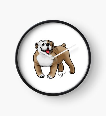 English Bulldog Clock