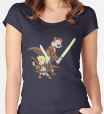 Calvin and Hobbes Star Wars Pals Women's Fitted Scoop T-Shirt