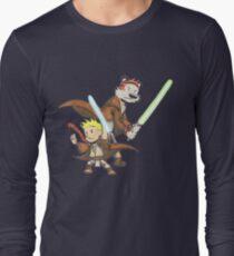 Calvin and Hobbes Star Wars Pals Long Sleeve T-Shirt