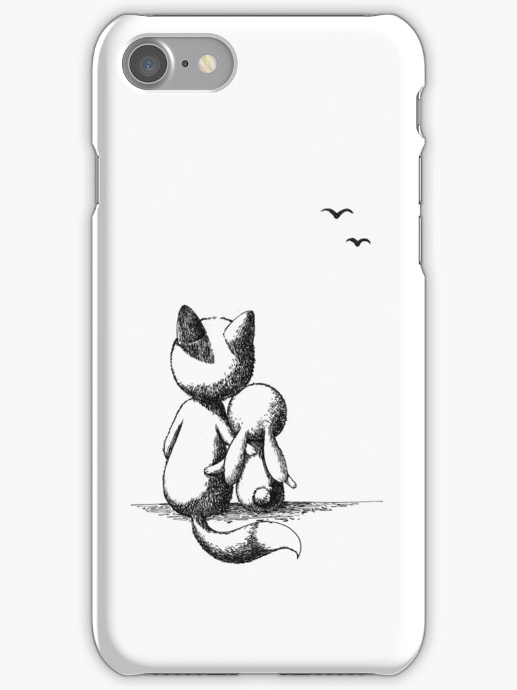 Fox and a rabbit by freeminds