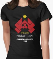 Nakatomi Corporation - Christmas Party Variant Womens Fitted T-Shirt
