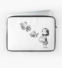 Girl and the fish Laptop Sleeve