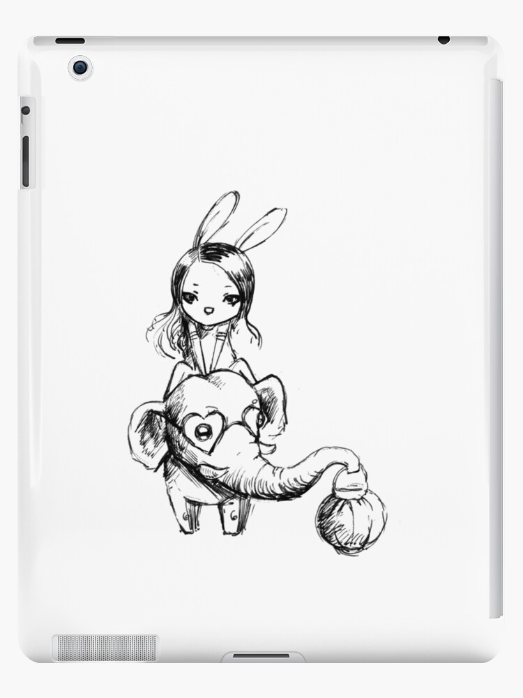 Elephant and a girl by freeminds