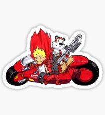 Calvin and Hobbes Akira Anime Sticker