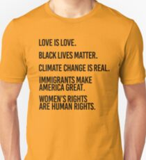 Love is Love and Black Lives Matter Unisex T-Shirt