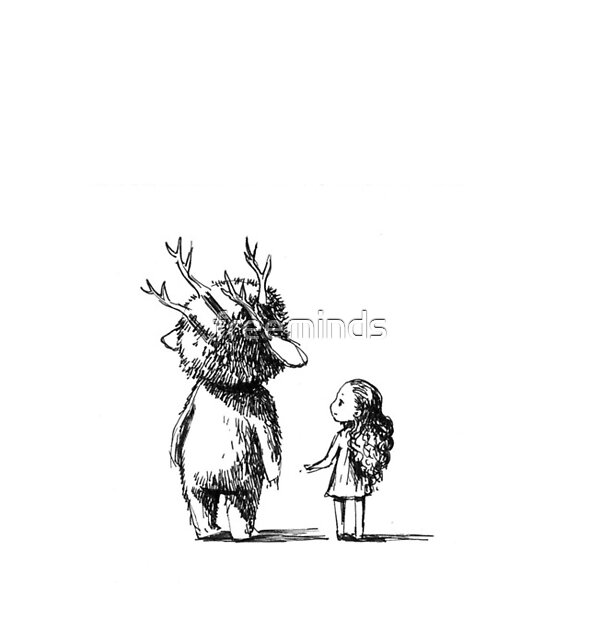 Girl and a monster by freeminds