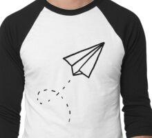 Paper Plane Men's Baseball ¾ T-Shirt
