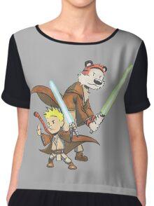 Calvin and Hobbes Star Wars Pals Chiffon Top