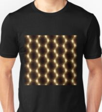 Lens Flare overlap gold ring pattern T-Shirt