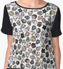 The Binding of Isaac characters pattern + Chiffon Top