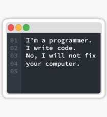 I Am A Programmer Sticker