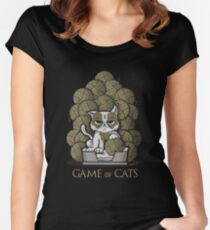 Game of Cats Women's Fitted Scoop T-Shirt