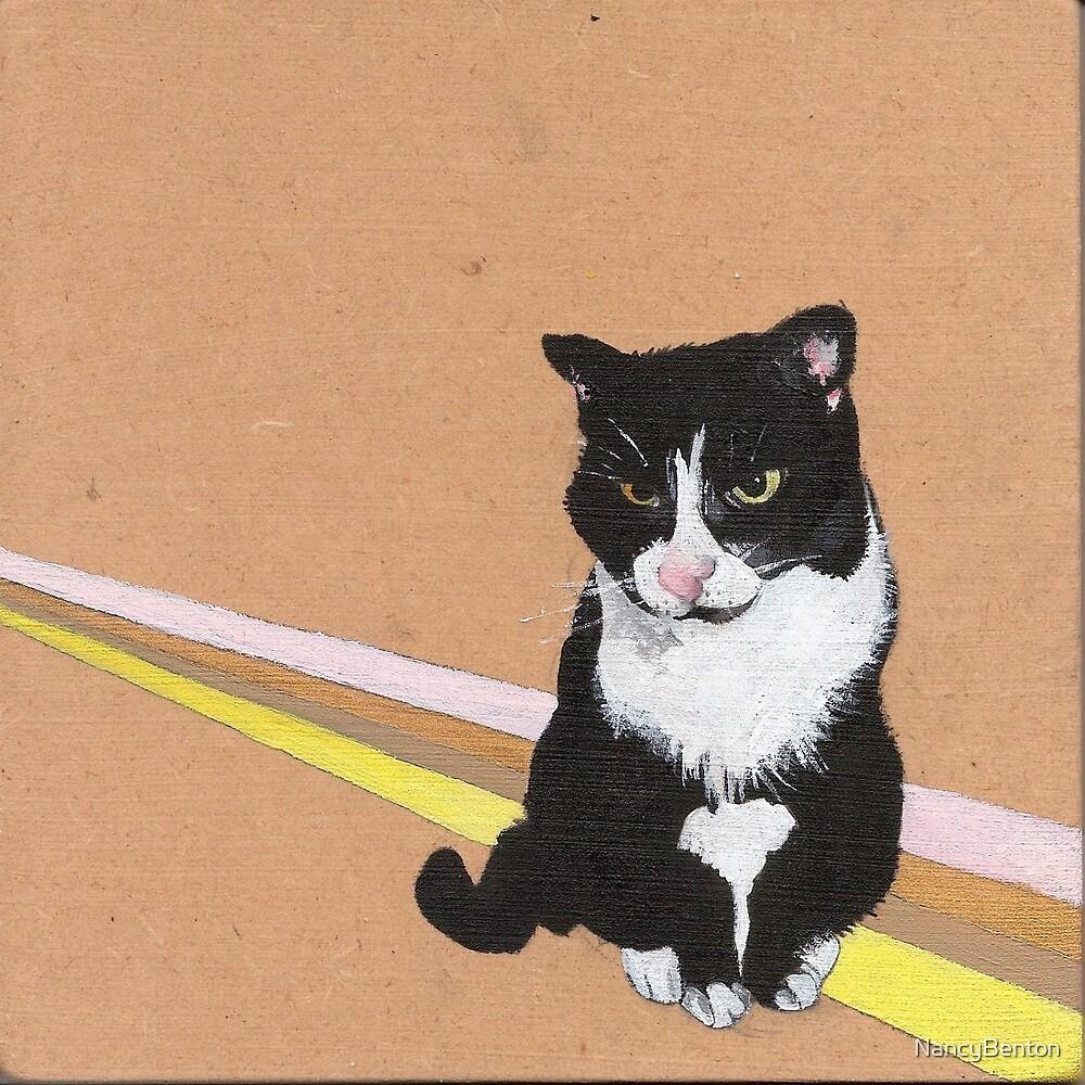 Tuxedo Cat by NancyBenton